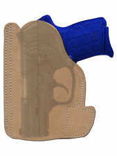 New Barsony Tan Leather Pocket Holster Kel-Tec Taurus Sccy 380 Ultra Comp 9mm
