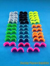 35 x Leg Rings for Chickens, Ducks, Poultry, Hens, Hatching Eggs (Mixed Colours)