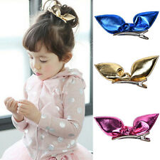 Baby Infant Toddler Girl Rabbit Ear Hair Clip Bow Hairpin Headdress Accessories