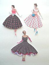 3D-U Pick- Woman 1950s Dress Card Scrapbook Card Embellishment 1952