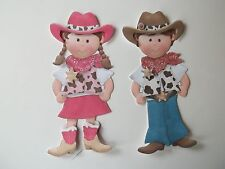3D ~ U Pick ~ Cowboy Cowgirl Card Scrapbook Embellishment #909