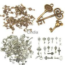50pcs Alloy Assorted Skeleton Key Pendants Vintage Charms Jewelry Findings