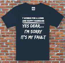 """7 Words For A Long And Happy Marriage"" Anniversary Spouse Funny T-Shirt S-2XL"