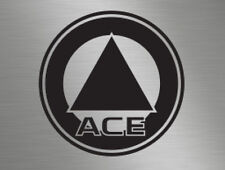 Ace Caravans Roundel Logo Front Back Side Vinyl Badge Decals Stickers Lettering