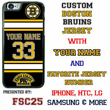 New Custom BOSTON BRUINS Hockey Jersey phone Case Cover for iPhone 6 6 PLUS 5 4