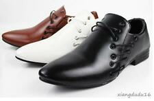 Men' fashion dress formal pointy toe stylish lace-up slip on loafer casual shoes