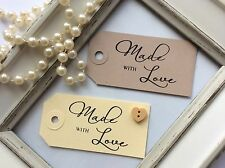 10 'Made with Love' Tags/Labels, Wedding Favours/Cupcakes/Sweetie Jars/Crafts