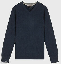 NWT $295 Vince V-Neck Cashmere Sweater Pullover