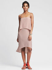 Brand New Banana Republic Women's Strappy Tiered Dress Color Pink