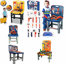 Kids Tools Work Bench Kit Set Folding DIY Construction Pretend Play Set Case Toy