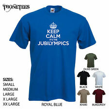 'Keep Calm it's the Jubilympics' Olympics/Queens Jubilee 2012 Mens Funny T-shirt