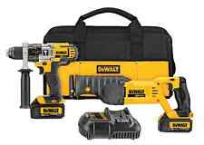 Dewalt Cordless 20v Combo Kit, Hammer Drill, Reciprocating Saw, New Tool