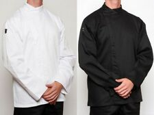 Chef Jacket X 6 - Black or White - Metal Press Buttons