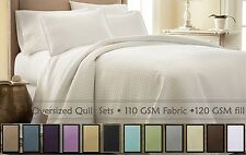Quilt Pillowcases Set Oversized Coverlet Quilted Bedspread & Shams Bedding Sets