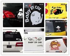 "Baby on Board ""Baby In Car"" Safety Sign Car Decal Sticker hello kitty flower"