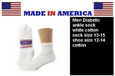 big & tall men diabetic white cotton ANKLE sock shoe size 12-14 gift wholesale