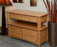 Lateral Filing Cabinet Solid Oak 2 tier Country Style #8845