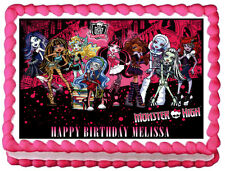 MONSTER HIGH Image Edible Cake topper Party decoration