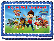 PAW PATROL Image Edible Cake topper party decoration