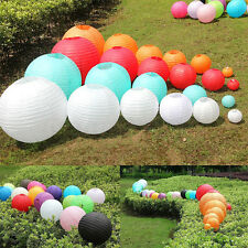 "10PCS 8"" 10"" 12"" Multicolor Chinese Paper Lantern Wedding Lampshade Party Decor"