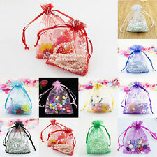 50pcs Butterfly Organza Jewelry Gift Candy Pouch Bags Wedding Party Favor Decor
