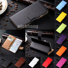 Colorful genuine leather wallet  stand card flip case cover For Apple All iPhone