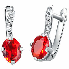 Graceful Top Grade Gemstone 925 Sterling Silver Women Stud Earrings Jewelry R423