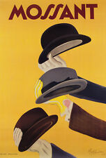 MOSSANT HAT CHAPEAUX POSTER by Cappiello vintage  art poster paper or canvas