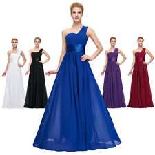 Sexy Long Homecoming One Shoulder Chiffon Ball Gown Evening Prom Party Dress New