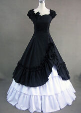 Black Southern Belle Ball Gown Victorian Dress Adult Women Halloween Costume