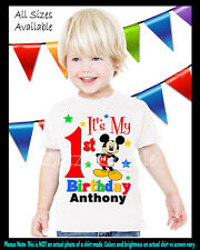 Mickey Mouse Inspired Birthday Party Boy Personalized Custom T Shirt ANY AGE