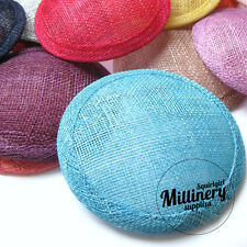 FAST SHIPPING!!! Round Sinamay Fascinator Hat Base for Millinery & Wedding Hats