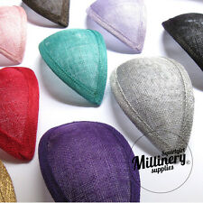 23 COLOURS!!! Teardrop Sinamay Fascinator Hat Base for Millinery FAST SHIPPING