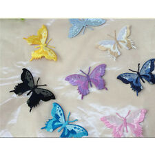 Embroidery Butterfly Sew Iron On Patch Badge Embroidered Fabric Applique