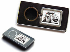PEUGEOT 107 Front Official Koolart Premium Metal Keyring With Gift Box