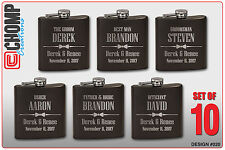 10 Personalized Engraved Flasks, Groomsman Gifts, Wedding Bridesmaid Party