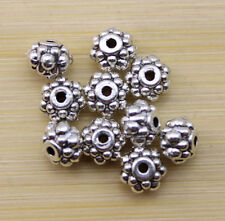 wholesale:50/100/300 pcs Retro style beautiful Tibet silver alloy interval beads