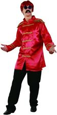 Sgt Peppers Red Jacket Rock-star Costume 60s 70s Fancy Dress Outfit
