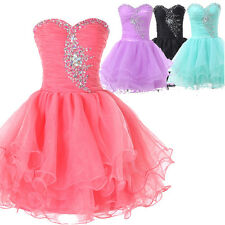 CHEAP! Mini Beaded Cocktail Ball Party Gown Formal Bridesmaid Evening Prom Dress