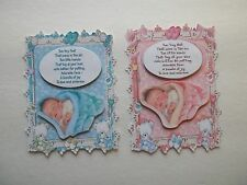 3D-CHOICE~1379 Baby Boy Girl Tiny Feet Poem Scrapbook Paper Embellishment