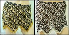 Egyptian Professional Luxury Crochet Belly Dance beads hip scarf Coins   414