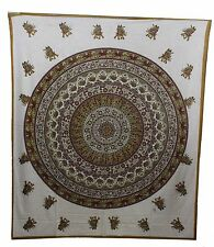 Indian Cotton DoubleSuper King Size Bed Sheet tapestry Animal Print