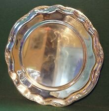 Vintage WMF IKORA Silverplate Toned Art Deco Silver Metal Serving Tray Germany