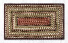 Capitol Earth Rugs Burgundy/Mustard/Ivory Jute Braided Rug Country Home C-319
