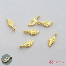 50PCS 11*5MM Zinc Alloy Leaves Tree Leaf Charms Pendants Jewelry Findings 29184