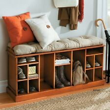 New Shoe Bench Storage Rack Organizer Boot Home Entryway Seat Hallway Wood Shelf