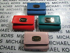 NWT Michael Kors Leather Jet Set Item Flap Coin Card Purse