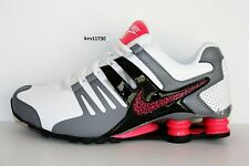 Authentic Nike Shox Current White Hyper Pink GreyBlack # 639657 104 Womens  sz