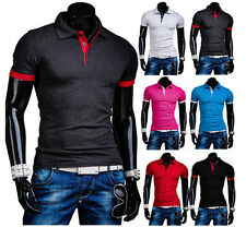 Hot Mens Fashion Stylish Casual Slim Fit Short Sleeve Polo Shirt T-shirts Shirt