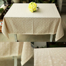 Tiny Table Cloth Party  Dinning Coffee Table flax Cotton Linen Cloth Covering